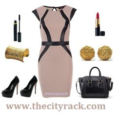 Make a fashion impact this season whether it be at the office or for a night on the town. This gorgeous fitted dress comes in a stunning textured fabric with on-trend leather-look detailing. Add some black tights and a blazer for a smart work look or team with a pair of black stilettos and some dramatic make-up for a sexy night-time outfit.