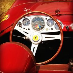 Instrumentation  1957 Ferrari 250 Testa Rossa Scaglietti Spyder | Pontoon Fenders | 250TR Red Head Roadster | Scaglietti | OTS Racing Car | 3.0L Tipo 128 LM V12 300hp | Top Speed 270 kph 168 mph | A total of 19 cars were produced  Phil Hill won the 24 Hours of Le Mans in a Pontoon 250TR