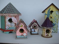 Wall Paper Bird Houses