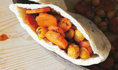 Spicy carrot and chickpea pocket, by Hugh Fearnley-Whittingstall