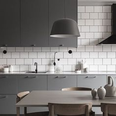 A stunning kitchen diner via @ostermalmsgatan1  Good night ✨ . #kitchen #kitchendesign #kitchendecor #nordichome #nordicinspiration