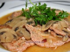 Eat Smarter, Thai Red Curry, Cooking Recipes, Meat, Chicken, Ethnic Recipes, Food, Schnitzel Recipes, Mushrooms