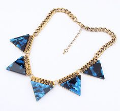 Retro Exaggerated All-Match Triangular Necklace