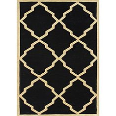 @Overstock - A bold abstract pattern highlights this charming handmade rug. Constructed of New Zealand wool, this rug features a warm color palette.http://www.overstock.com/Home-Garden/Handmade-Metro-Black-Wool-Rug-8-x-10/6372594/product.html?CID=214117 $288.14