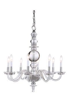 """Buy the Elegant Lighting 1462D29C Chrome Direct. Shop for the Elegant Lighting 1462D29C Chrome Diamante 29"""" Wide 8 Light Chandelier from the Urban Classics Collection and save."""