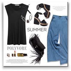 How To Wear Simple summer Outfit Idea 2017 - Fashion Trends Ready To Wear For Plus Size, Curvy Women Over 20, 30, 40, 50