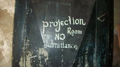 Projection room door Imperial Theater, Room Doors, Entertaining, Bedroom Doors, Funny