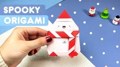 Merry Spookmas everybody! Hope you enjoy this little Winter Spooky Origami Tutorial! If you try this tutorial, please tag me on IG or send me dm's of your re. Origami Tutorial, Diy Paper, Playing Cards, Merry, Kawaii, Winter, Paper Crafts, Paper Envelopes, Winter Time