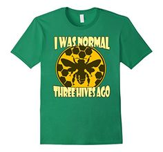 I Was Normal Three Hives Ago Shirt - Beekeeper Tee HoneyBee Tshirt Our Funny Bee shirts, honeybee tees, and beekeeper tshirts make the perfect, unique gift for the bee enthusiast in your life and make great presents for birthdays, christmas, and even mothers day and fathers day. So, pick up a t-shirt today, support the cause, and show your love for the beekeeping community. Save the bees, save the environment and save the earth.