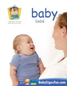 Free poster with the sign for BABY  www.BabySignsToo.com  #BabySigns #BabySignLanguage #BabySign