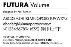 Futura was first presented by the Bauer Type Foundry in 1928 and is commonly considered the major typeface development to come out of the Constructivist Small Caps, Bold Italic, Sans Serif Fonts, Typography Design, Outline, Branding, Bauhaus, Books, App