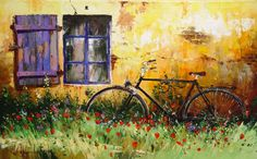 Provence 50x100 oil on canvas 2001
