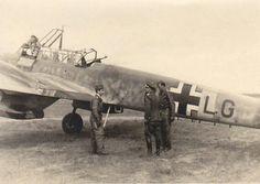 Werner Mölders in a Bf 110