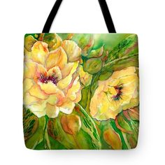 Yellow Peony Flowers tote bag with long handle. The long black strap allows you to carry it on your shoulders. With original paintings from Sabina von Arx, I wish you a joyful summertime!