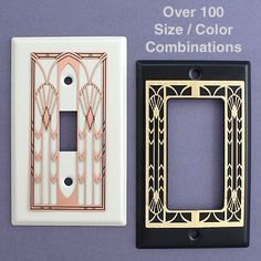 Art deco switch plates. beautiful designs
