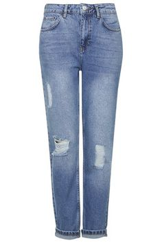 MOTO Ripped Mom Jeans