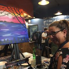 The Grazie Girl is a painter now! Have to find an Italian vista.  #paint #painting #paintings #painter #musepaintbar #paintbar #artist #artistic #landscape #travel #italy @muse_paintbar @musepaintbarwhiteplains