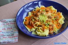 Carole's Chatter: Orange Tomato Pasta Sauce with Leftover Sausage