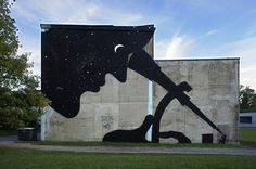 Artist Sam3 painted this lovely mural and several others for the recent Bien Urbain street art festival in Besancon, France. More images of the art in the Bien Urvain Flickr stream. (via Laughing Squid)
