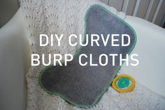 Curved baby burp cloth tutorial and free pattern