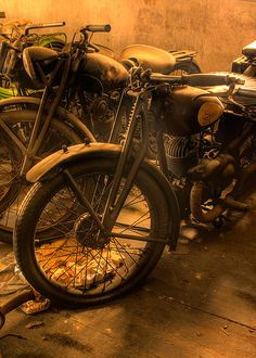 Vintage Motorcycle. Ca. 1951. HDR Photography