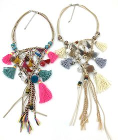 Handmade Boho Necklaces with tassels and all. Perfect for expressing your personality.