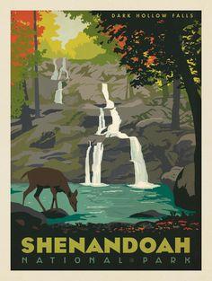 Anderson Design Group – American National Parks – Shenandoah National Park: Dark Hollow Falls