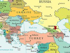Map of Eastern Europe and Central Asia...