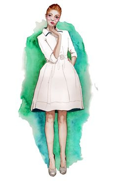 Fashion illustrations by Tracy Hetzel (and other illustrations too!)