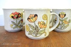 A personal favorite from my Etsy shop https://www.etsy.com/ca/listing/470767538/vintage-coffee-mugs-set-of-4