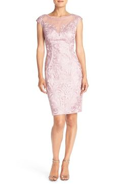 77eea45e Sue Wong Embroidered Mesh Sheath Dress available at #Nordstrom Sue Wong,  Nordstrom Dresses,