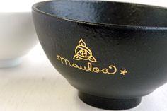 黒茶碗 ゴールド バックイラスト