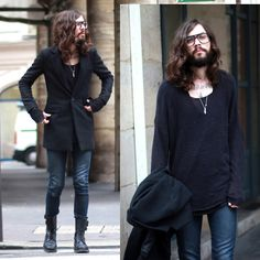 The Kooples Denim Pants, Vintage Army Boots, Moscot Glasses
