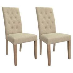 Marlow Tufted Dining Chair in Natural