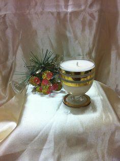 RETRO Gold Band Liqueur Glass Candle, $12.95 NZD Vintage Candles, Soy Wax Candles, Glass Candle, Gold Bands, Pottery, Table Decorations, Retro, Home Decor, Ceramics