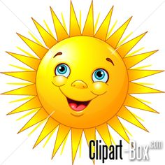 CLIPART SMILING SUN