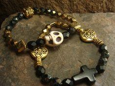 Sugar Skull Bracelet Sugar Skull Jewelry Skull by ShopSparrow, $11.99  #ShopSPARROW  ShopSPARROW