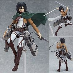 "16.00$ Watch here - http://aliiu5.shopchina.info/go.php?t=32794878364 - ""15cm Attack on Titan Figma 203 Mikasa Ackerman 6"""" PVC Action Figure Collection Model Toy"" 16.00$ #buyininternet"