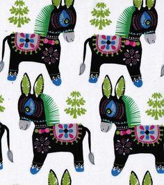 Pinata Donkey Spanish Mexican Cotton Fabric 5 Yards