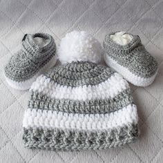 The Parker Crochet Baby Booties 59e267bd46c