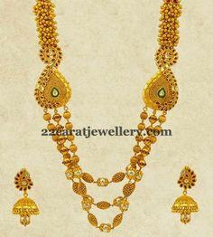 Gundla Mala with Kundan Jhumkas | Jewellery Designs