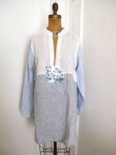 "CP SHADES LINEN ""WYATT"" TUNIC DRESS  Sz. SMALL / MEDIUM #CPSHADES #Tunic #Any"