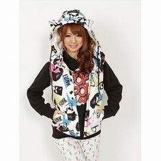 Buy 'JSG – Ear-Accent Printed Zip Vest' with Free International Shipping at YesStyle.com. Browse and shop for thousands of Asian fashion items from Japan and more!