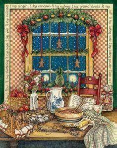 Christmas by Sherri Buck Baldwin Merry Christmas To All, Christmas Scenes, Felt Christmas, Christmas Pictures, All Things Christmas, Vintage Christmas, Christmas Holidays, Christmas Cards, Christmas Ornaments