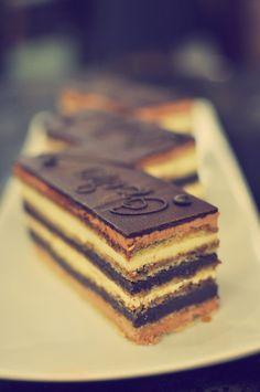 Opera Cake - chocolate dessert