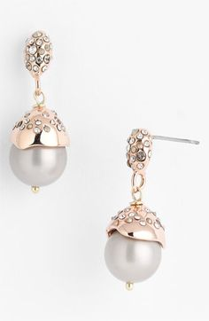 Alexis Bittar Crystal Encrusted Shell Pearl Drop Earrings | Nordstrom