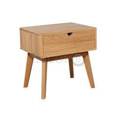The Kendo Side Table and Night Stand is made from solid American white oak.