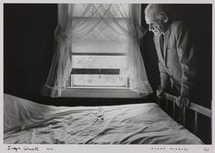"""Joseph Cornell, 1972 -by Duane Michals. """"Beauty should be shared for it enhances our joys. To explore its mystery is to venture towards the sublime."""""""