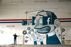 Social Media IRL: How Street Artists Are Bringing Hashtags, Likes and Tweets to a Wall Near You | Global