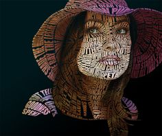 Olivia Wilde Typographic Portrait by Automaticize.deviantart.com
